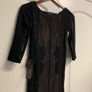 Bebe Midi Mesh Dress